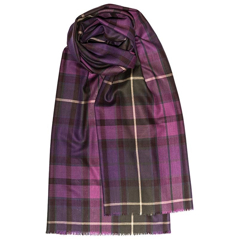 Fine Wool Stole - Buchanan Heather