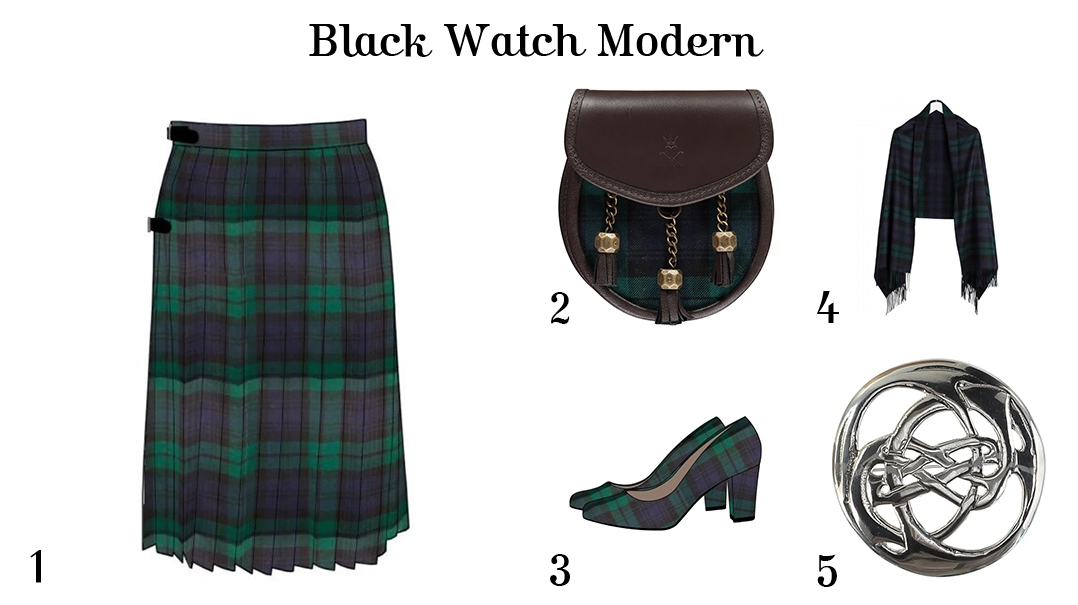 What to wear for Burns Night - For Her - Black Watch Modern