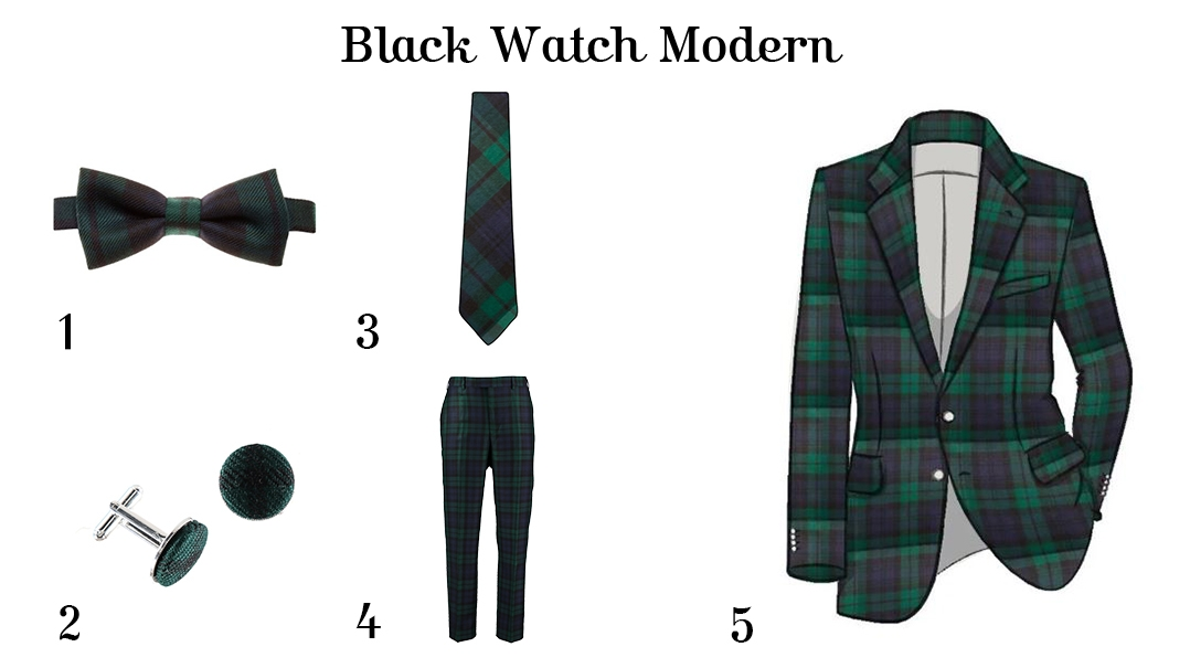 What to wear for Burns Night - For Him - Black Watch Modern