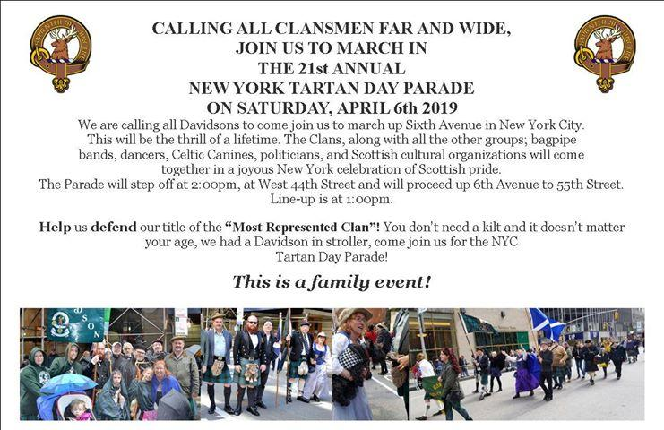 Clan Davidson - New York City Tartan Week 2019