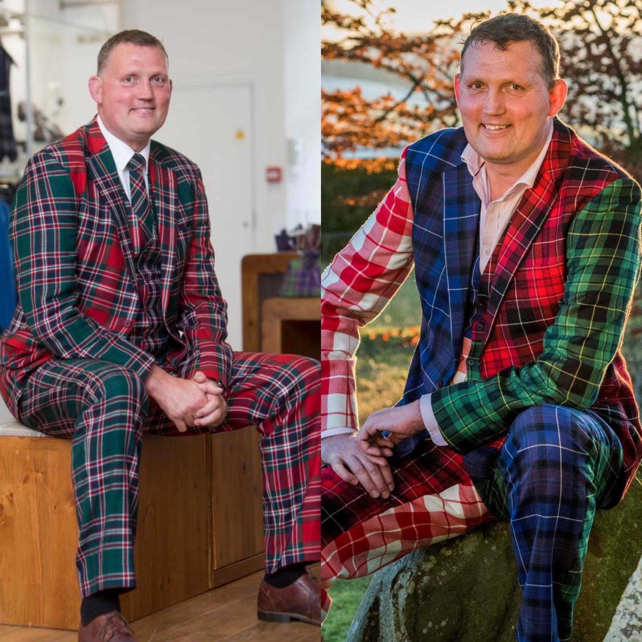 Doddie Weir Tartan Suits