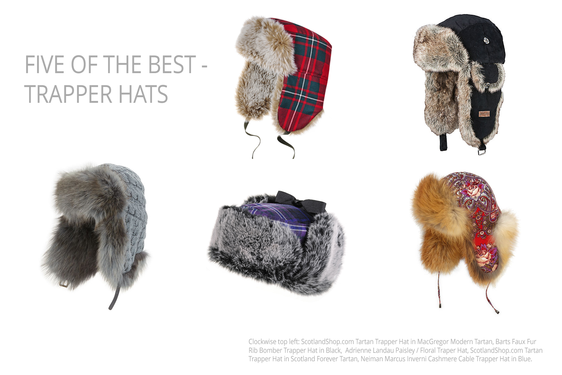 96fd2945eabfa Trapper Hats - 5 of the best with a touch of tartan…