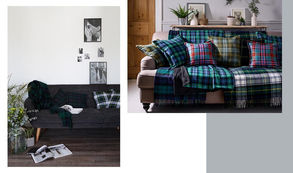 How To Style A Tartan Throw Blanket Scotlandshop