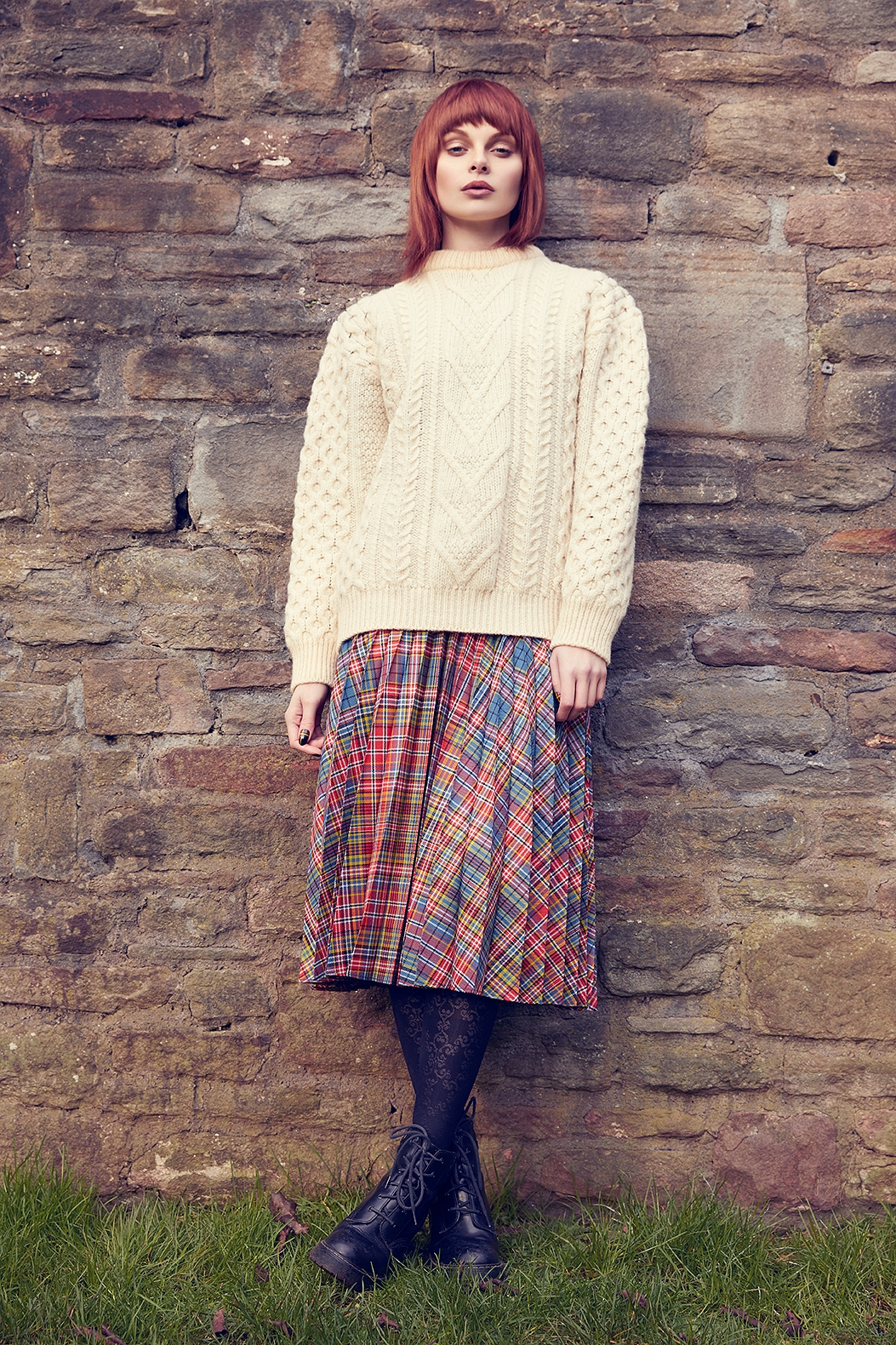 Tartan Fine Pleated Skirt