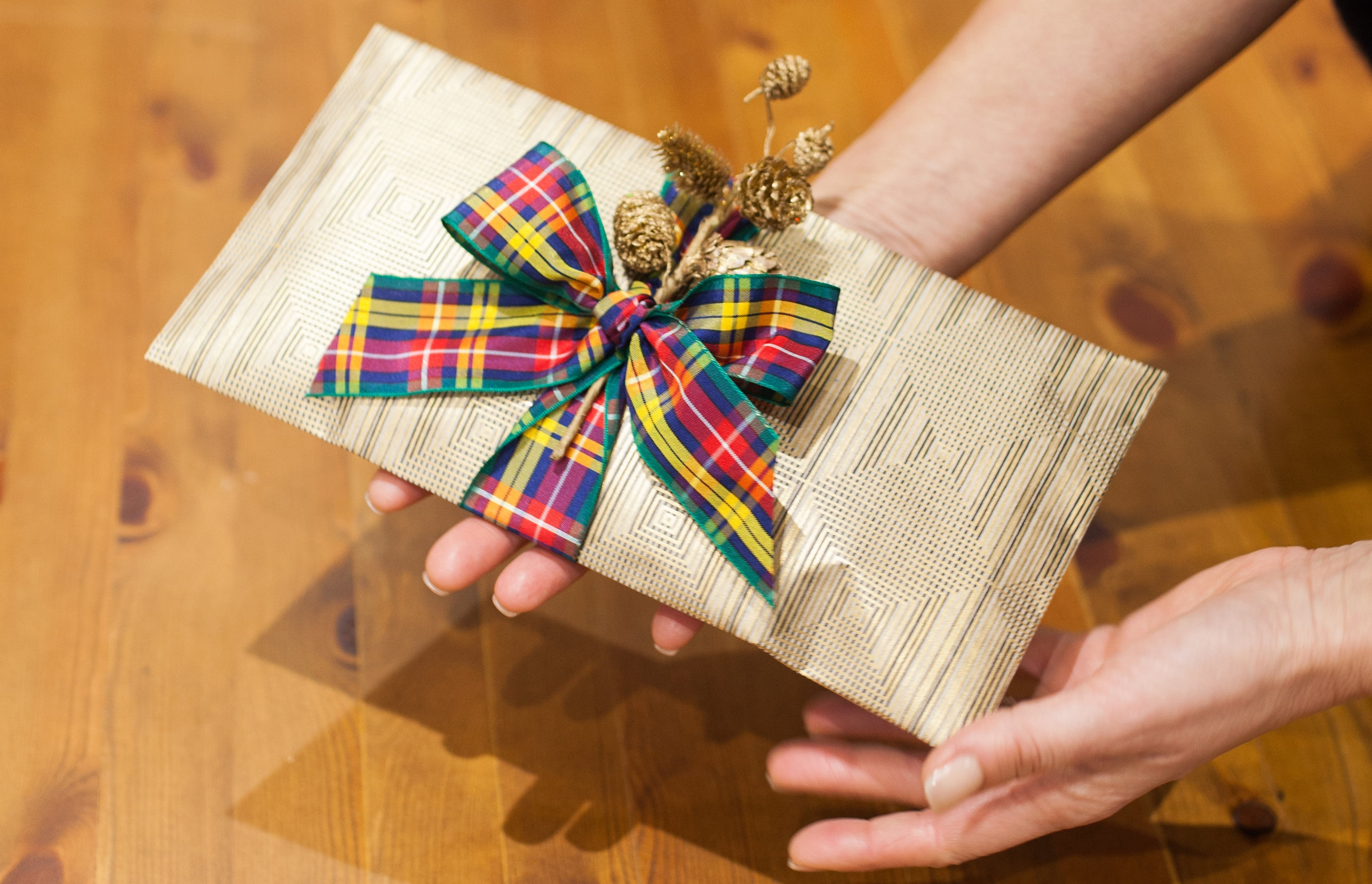 Tartan giftwrap