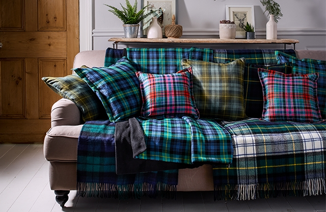 Made in the USA from Wool Tartan Woven in Scotland OUTLANDER Throw Pillow with or without Insert