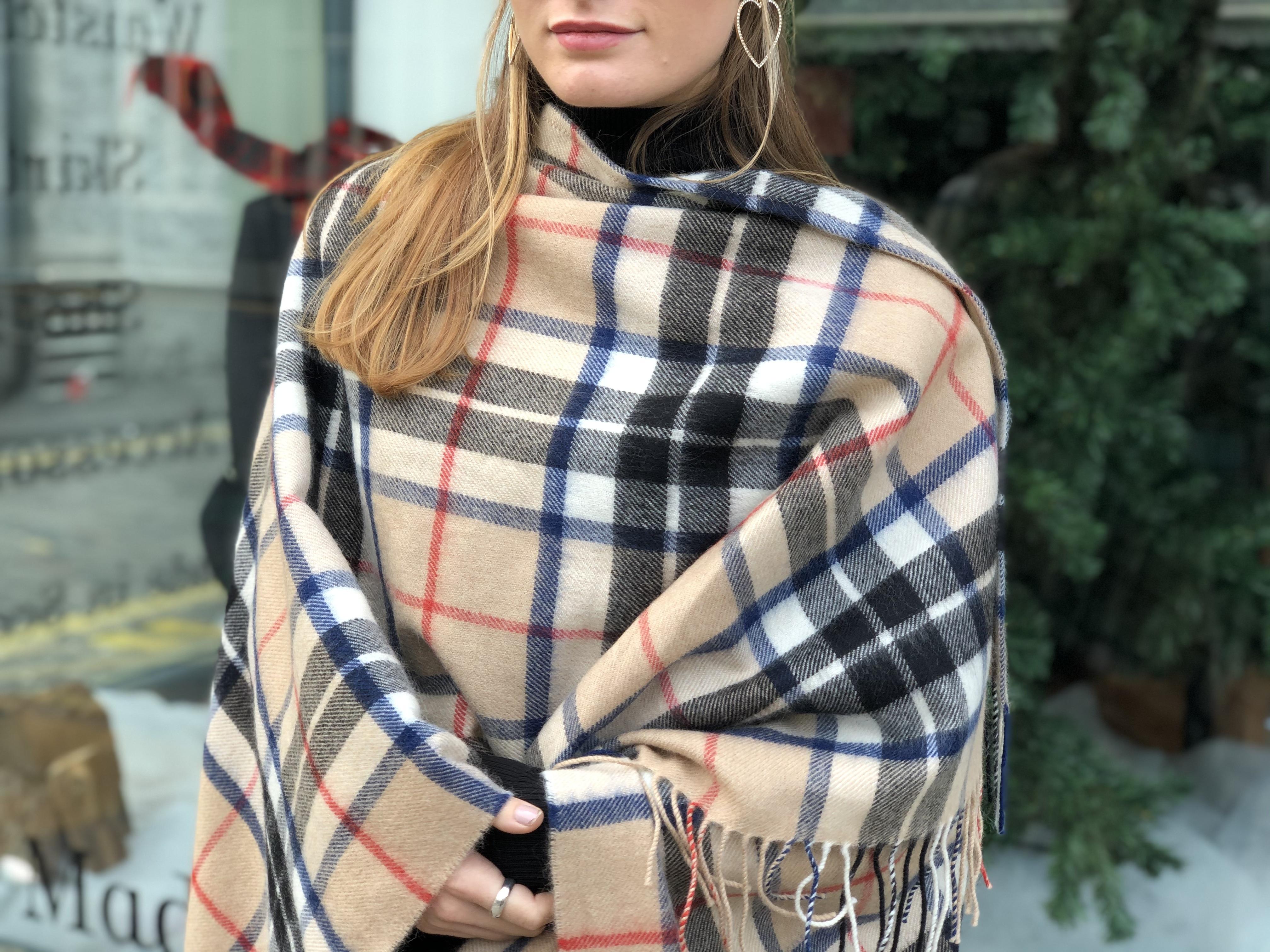 Mackean Warm Soft Large Tartan Check Blanket Scarf Wrap Choice of Colours