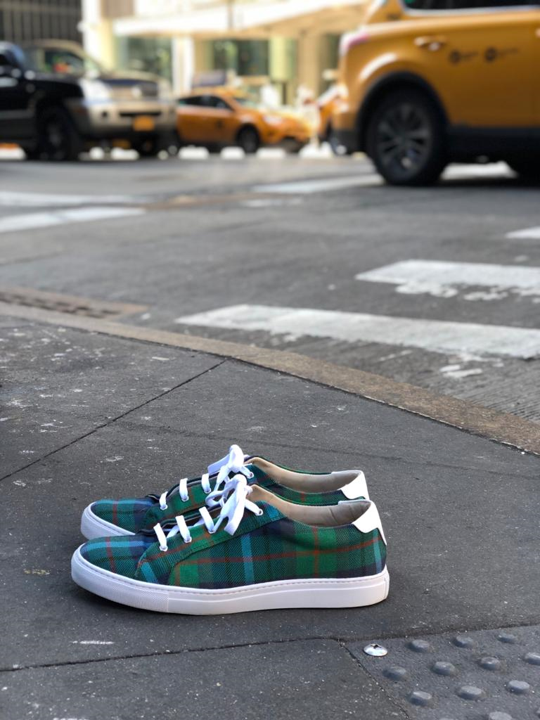 New York Tartan Trainers on 6th Ave