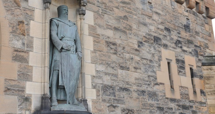 William Wallace at entrance of Edinburgh Castle