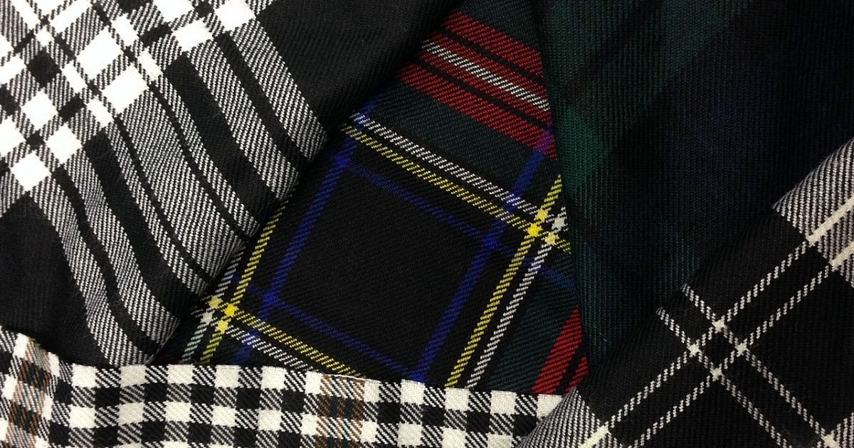 Pocket Square and Silver Cufflink Set Luxury Spirit of Scotland Tartan Classic Self Tie Bow Tie