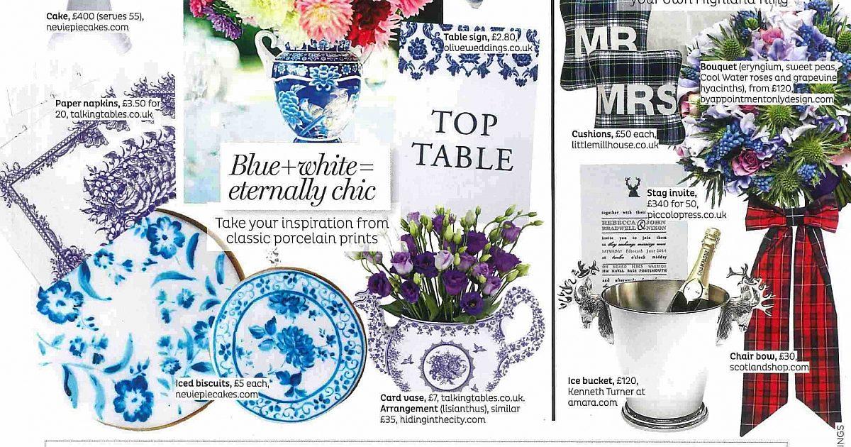 A Bonnie Big Tartan Bow With Brides Magazine Scotlandshop