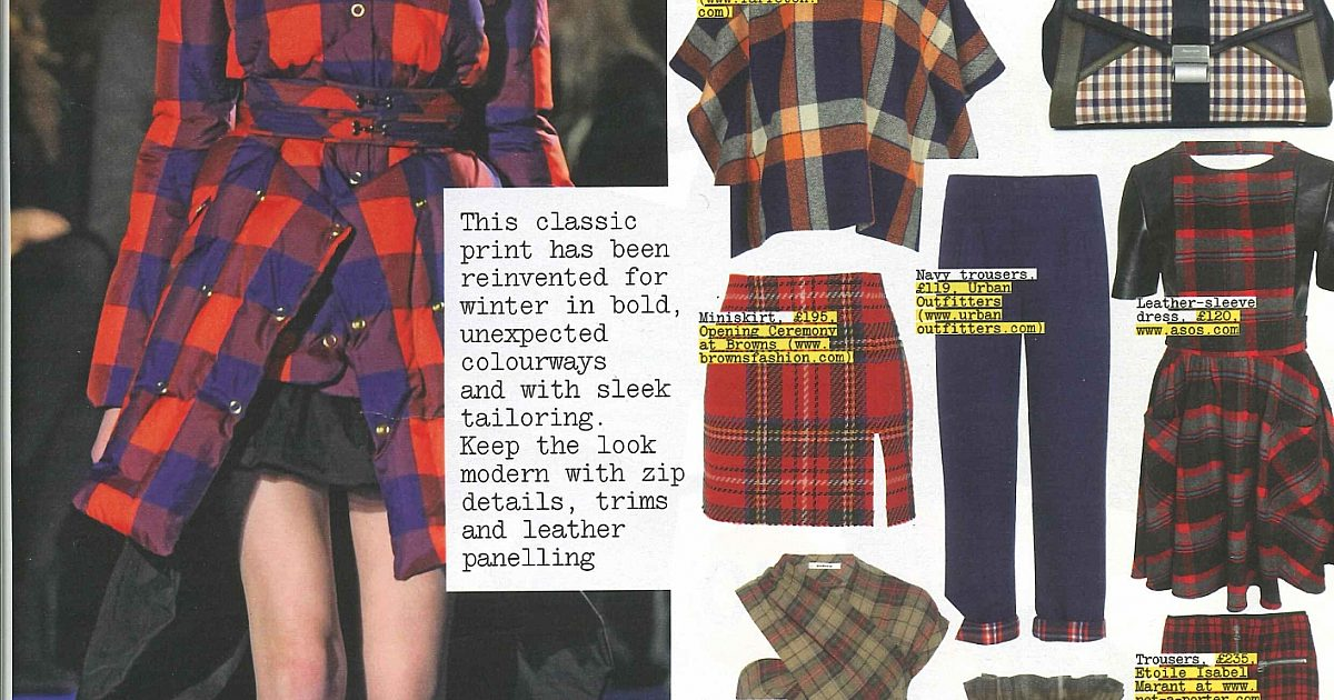 02fd77a54 The word is Plaid for Grazia this week | ScotlandShop