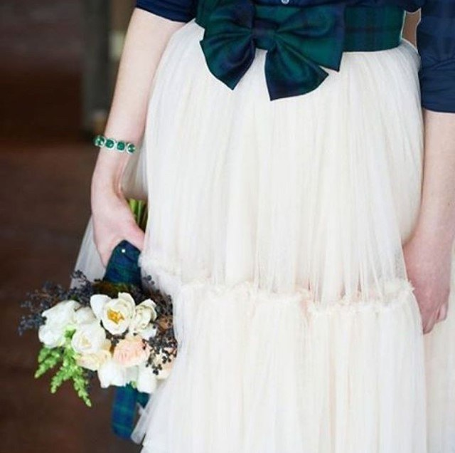 Tartan Wedding Dress Inspiration