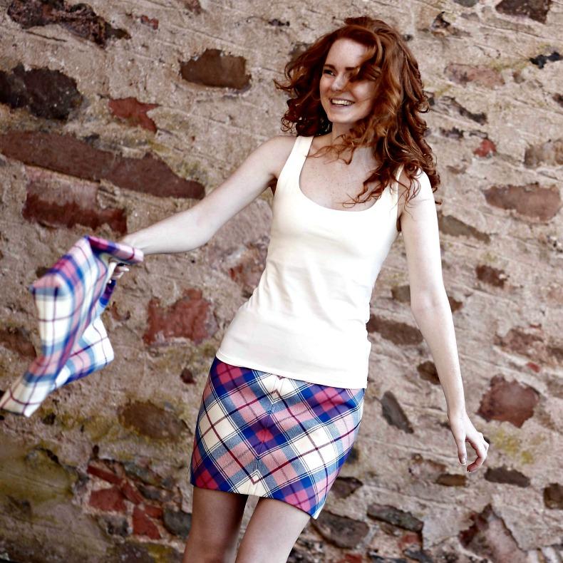 Tartan Skirt Inspiration Sunart Saphire
