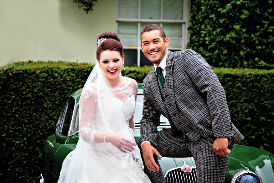 Scottish Wedding Couple Tweed