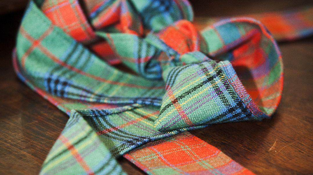 Tartan Fabric, Ribbon and Handfasts for Scottish Weddings