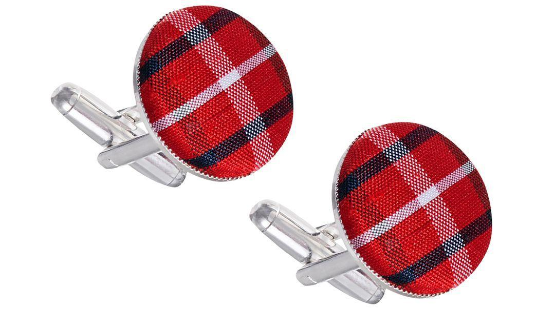 Clan Crest and Plaid Cufflinks