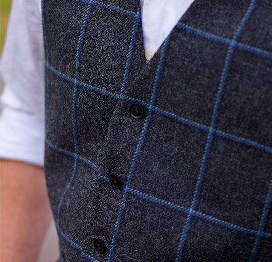 Weste mit Tweed-Muster