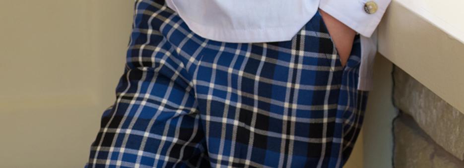 Boys Tartan Trousers Banner