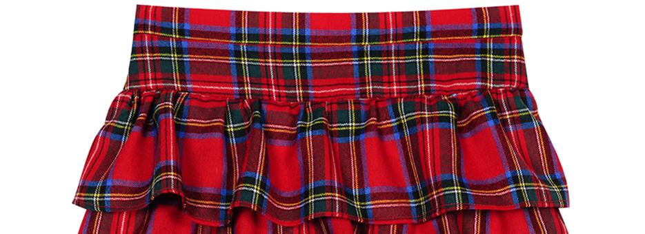 Girls Tartan Ra Ra Skirt Banner
