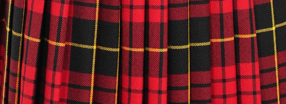 Guide des Tailles Jupe Mini Kilt Ecossaise | ScotlandShop
