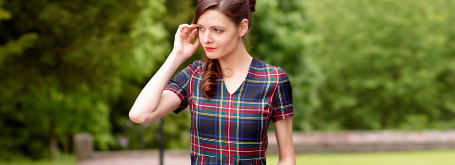 Womens Tartan Dress Banner