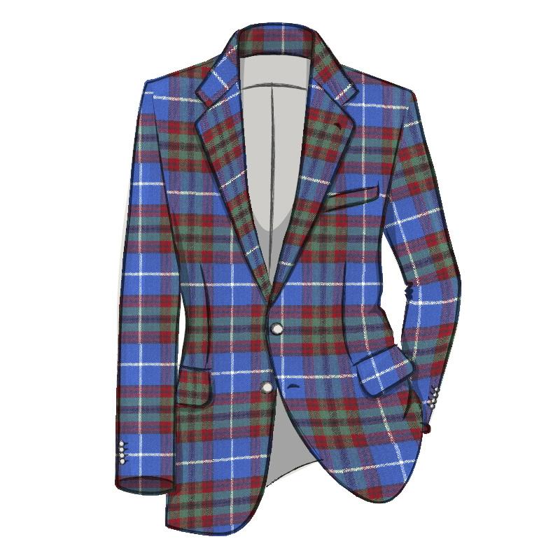 Men's Tartan Suit Jacket