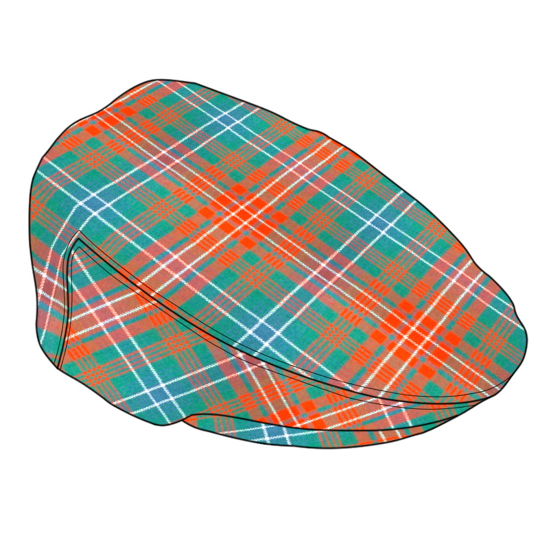 Casquette plate tartanMade To Order