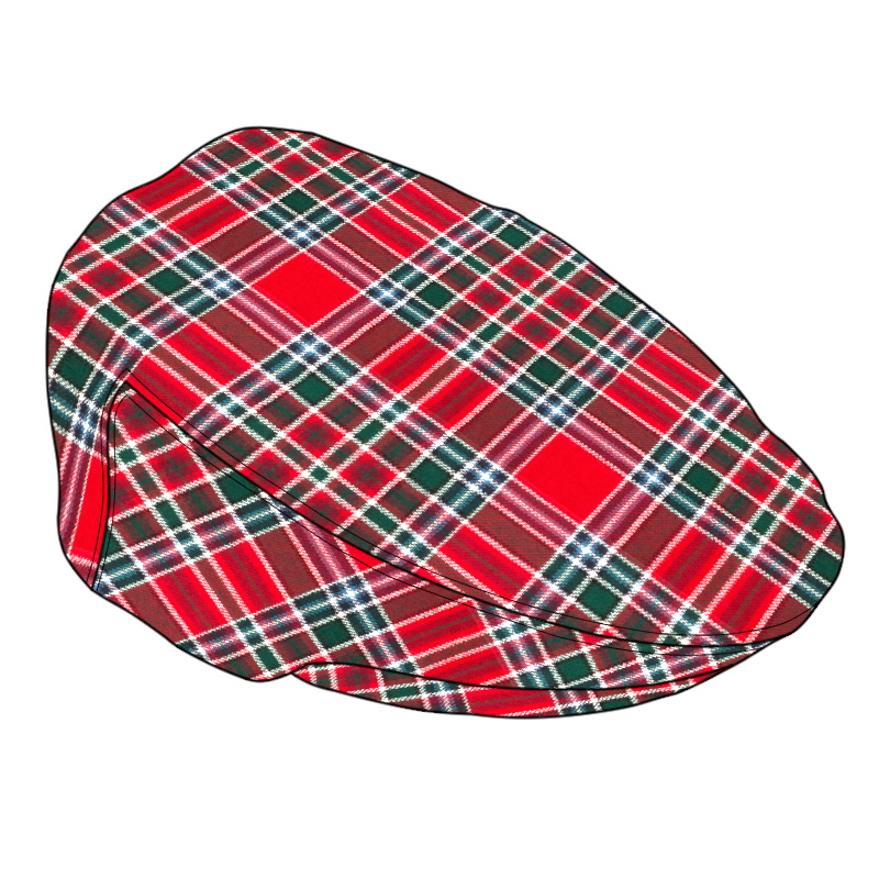 Casquette plate tartan Made To Order