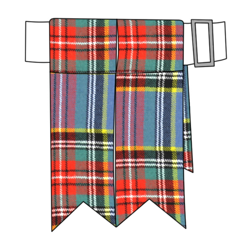 Mens Clan Tie Made in Scotland MacBeth Ancient Tartan