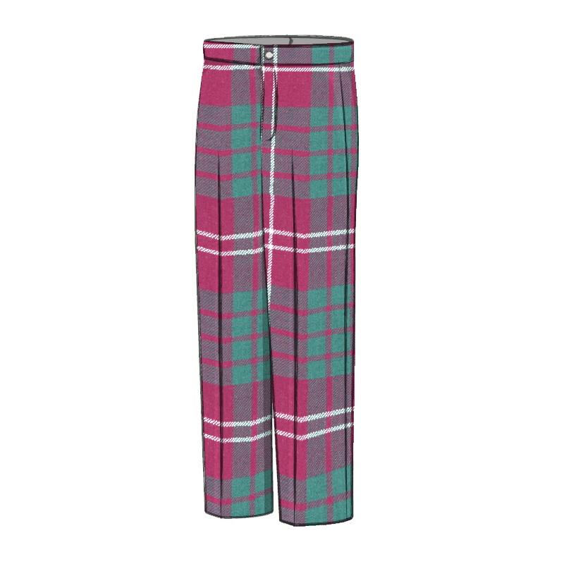 Boy's Wool Tartan Trousers