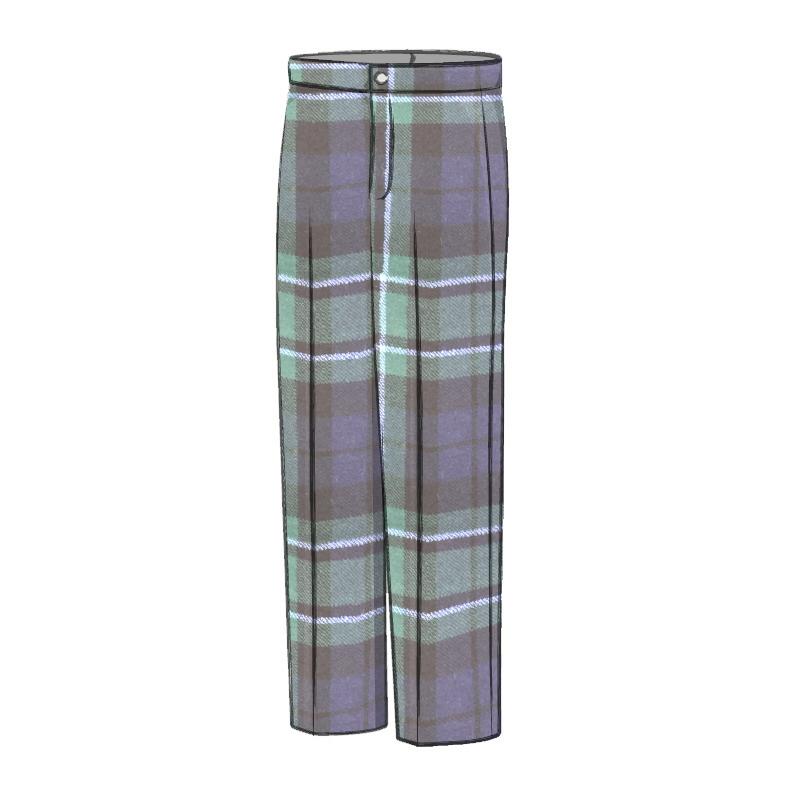Boy's Wool Tartan Trousers