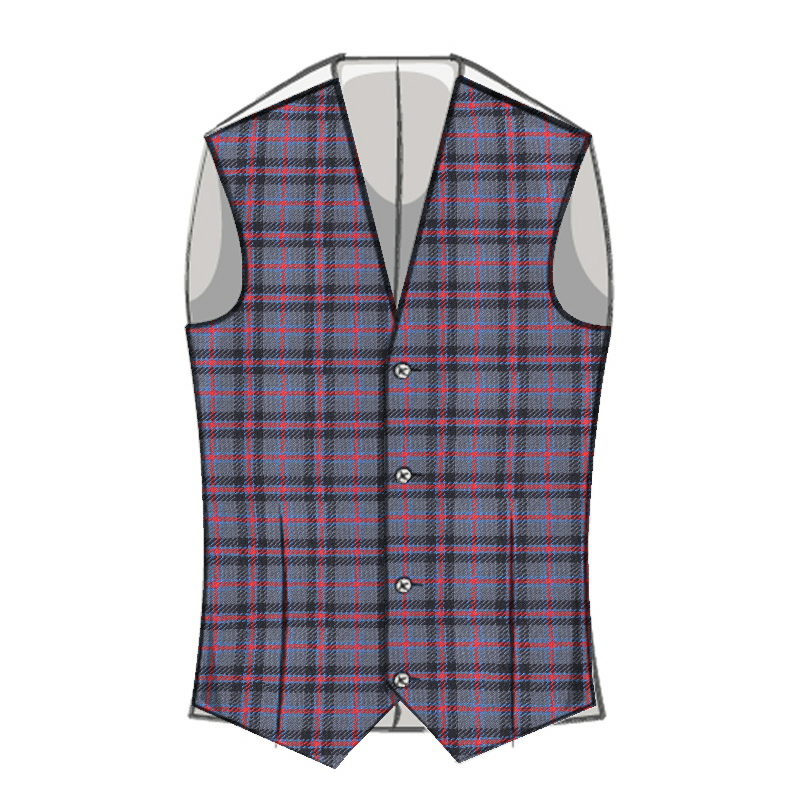Boy's Machine Washable Tartan Waistcoat Made To Order