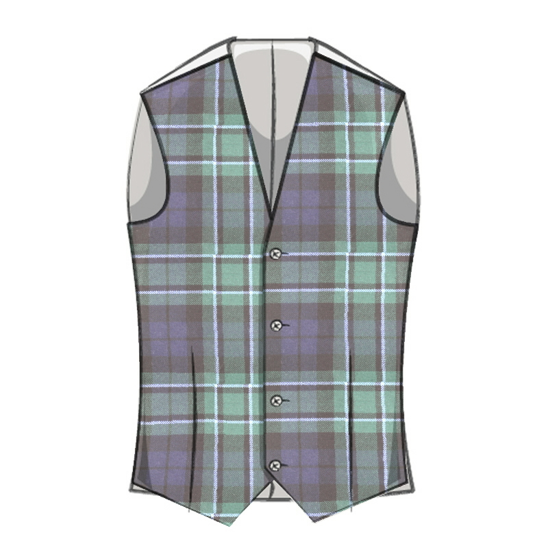 Boy's Wool Tartan Waistcoat