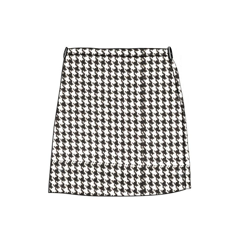 La falda Escocesa de Ninas, maquina lavableMade To Order