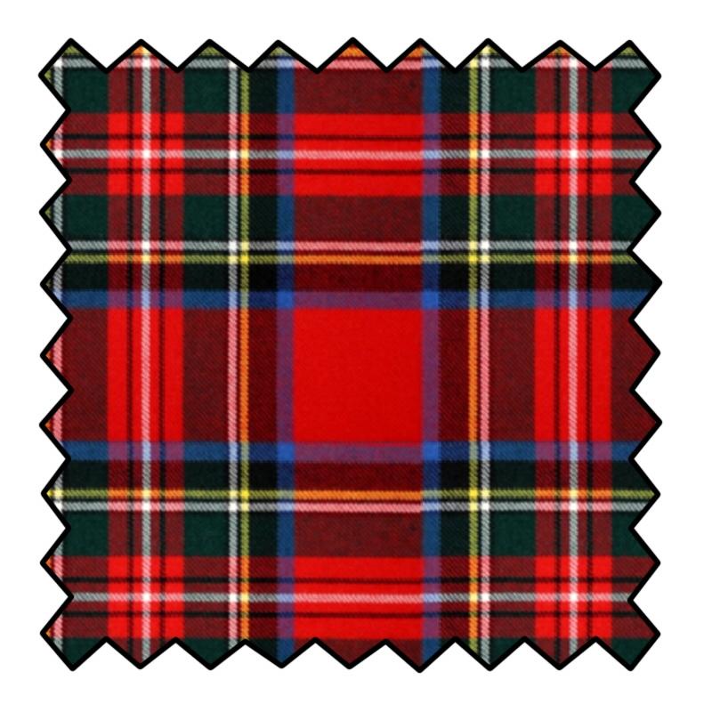 10oz Wool Tartan Fabric Swatches
