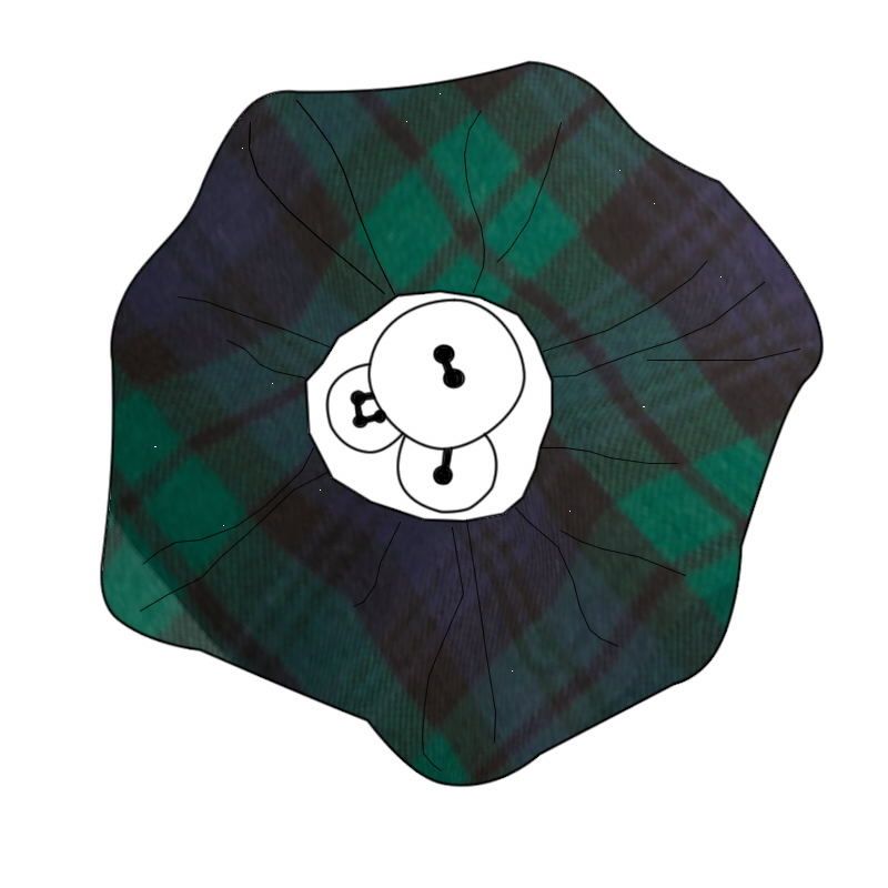 Button Tartan Brooch