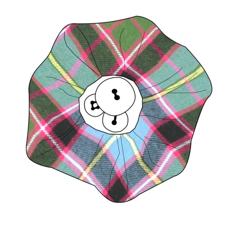 Button Tartan Brooch