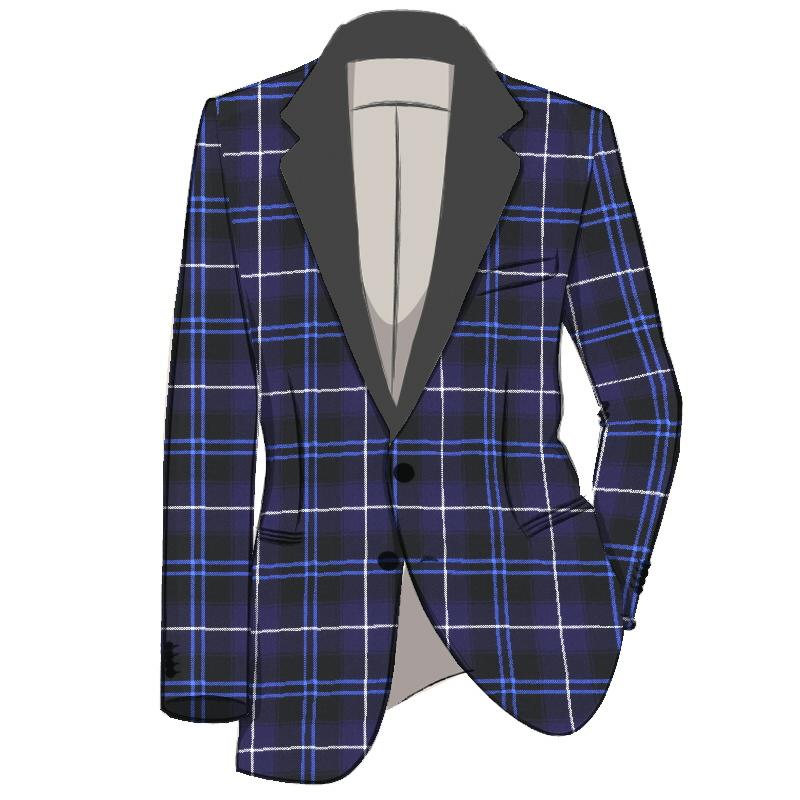 Men's Single Breasted Tartan Dinner Jacket