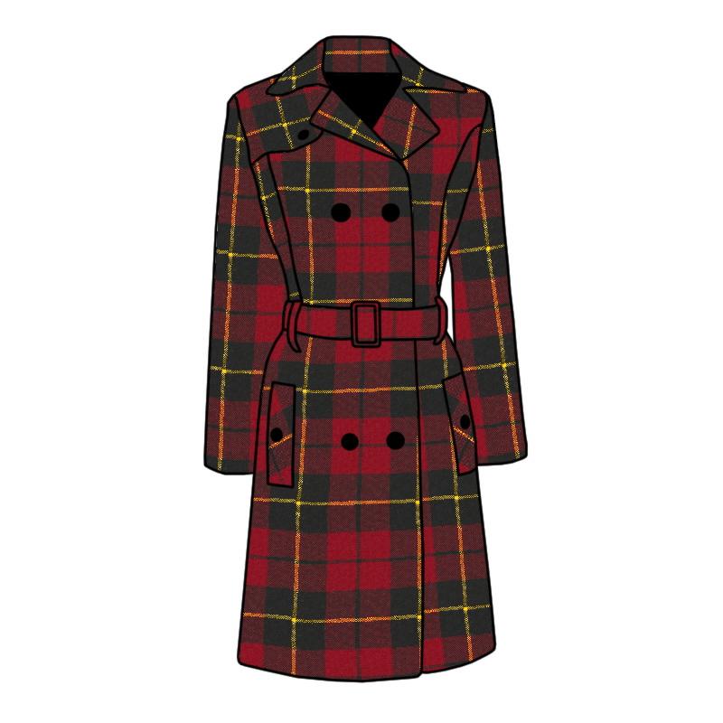 Tartan Trench Coat