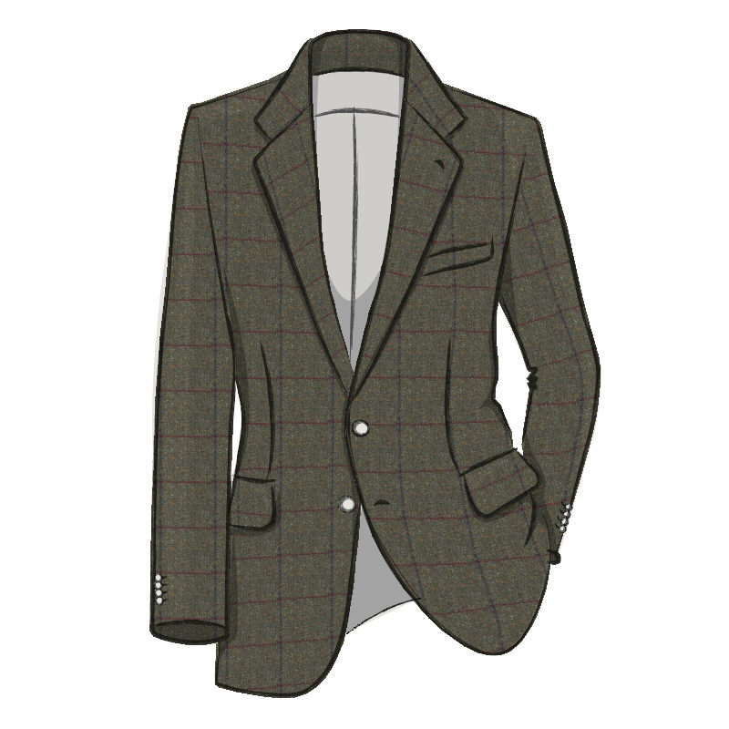 Veste en tweed ecossais Made To Order