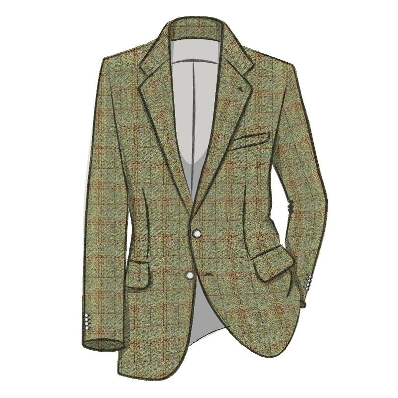 Traje de chaqueta en TweedMade To Order