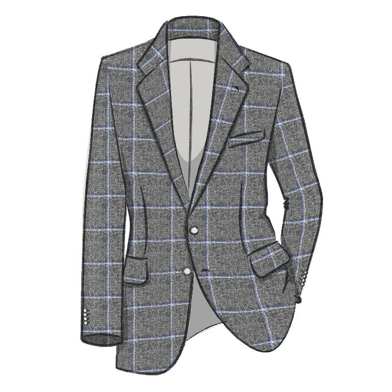 Veste en tweed ecossaisMade To Order