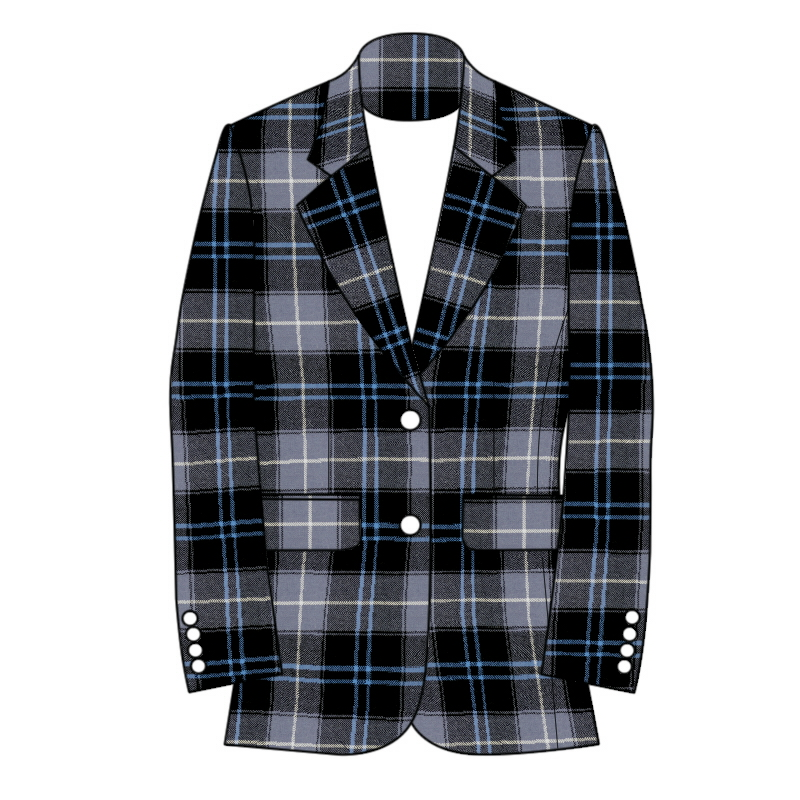 Women's Tartan Jacket 2 Button Fastening