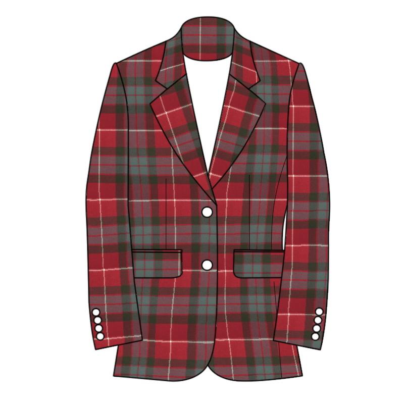 Women's Tartan Jacket 2 Button Fastening