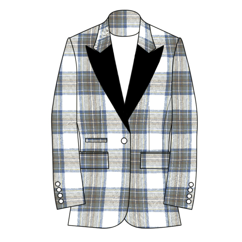 Women's Tartan Jacket Single Button Fastening