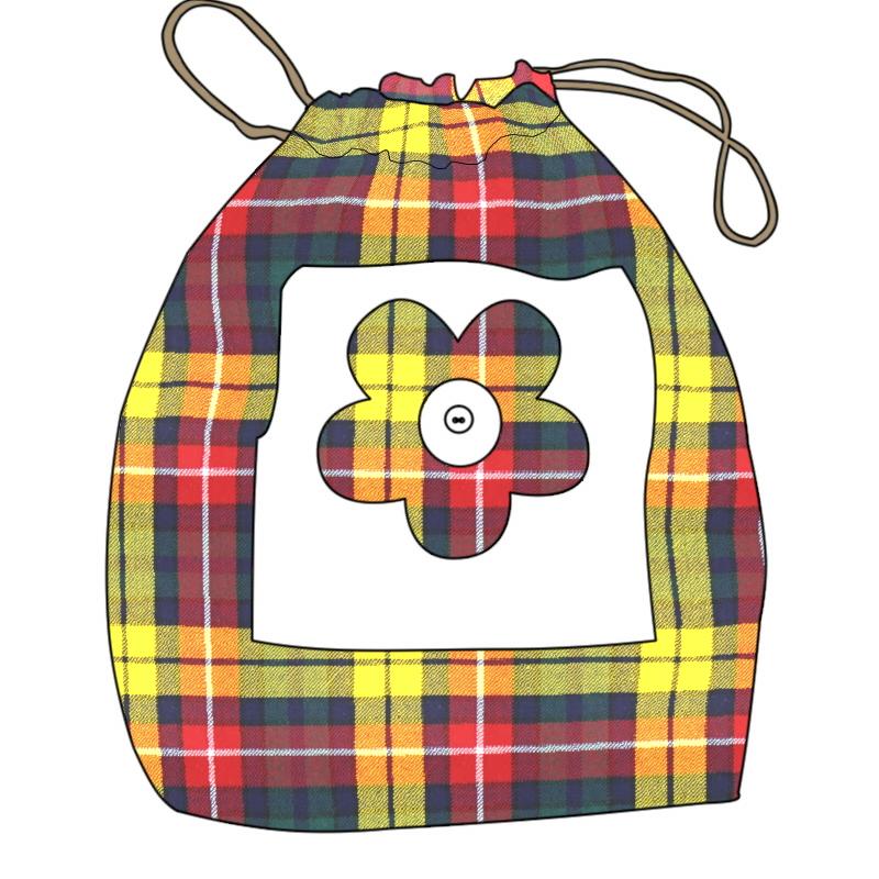 Children's Drawstring Tartan Bag