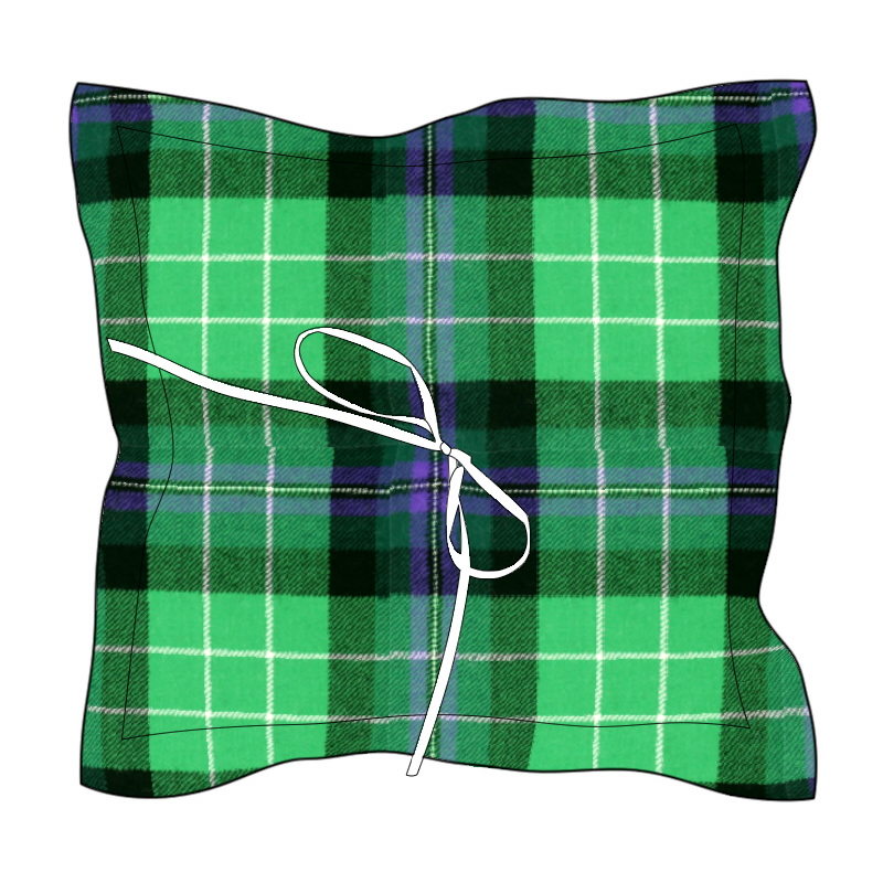 Pride of Scotland Tartan Ring Cushion