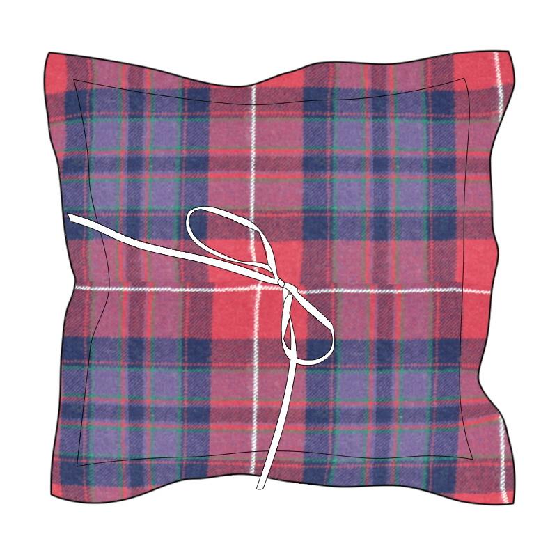 Pride of Scotland Tartan Ring Cushion