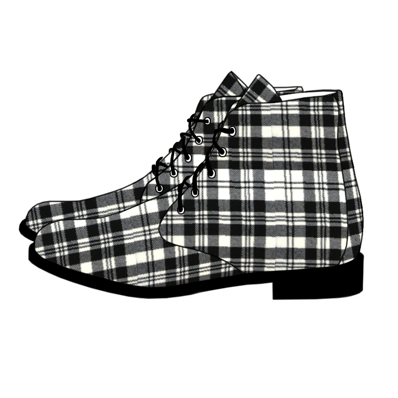 Men's Tartan Boots Made To Order